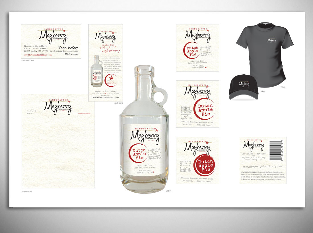 LinTaylor Marketing Group Branding Process for Mayberry Moonshine