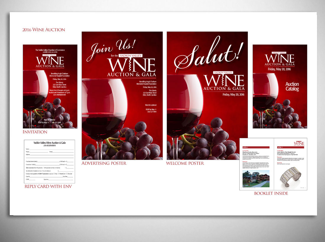 LinTaylor Marketing Group Branding Process for the Yadkin Valley Wine Auction & Gala