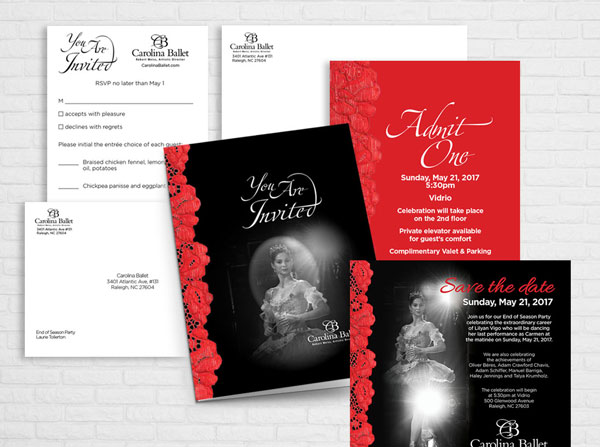 Carolina Ballet Invitations