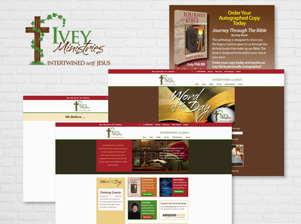 Ivey Ministries - Logo, Bookmark and Collateral